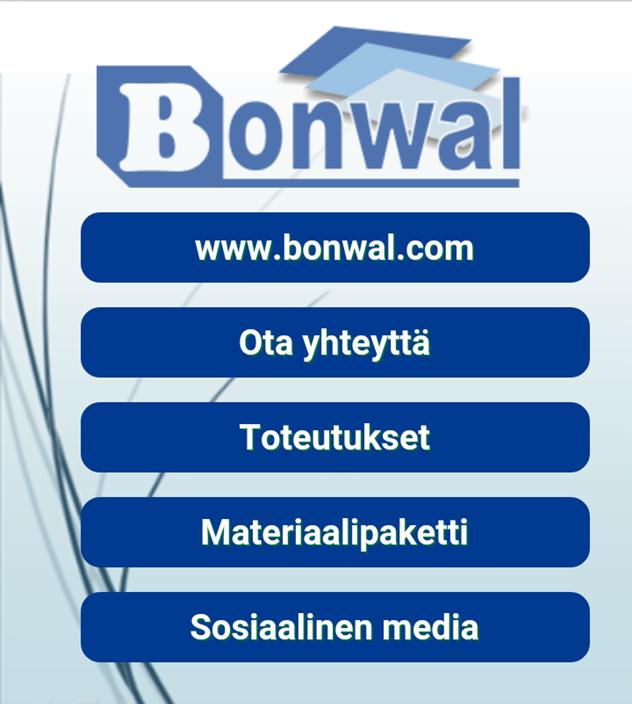 Bonwal menu