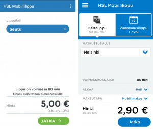 HSL Mobiililippu App