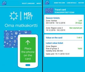 HSL Oma matkakortti App
